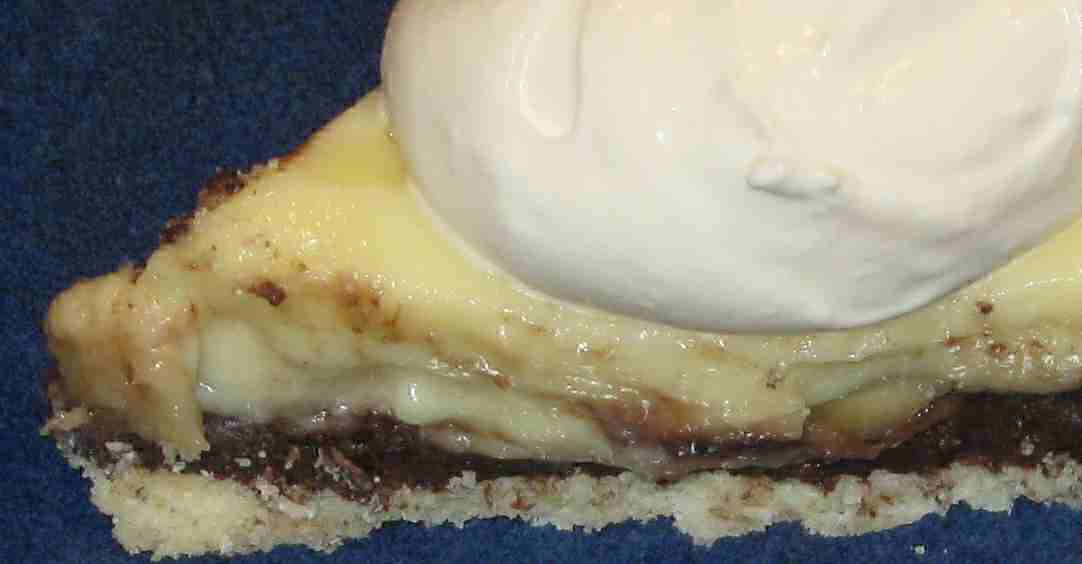 Banana Cream Chocolate Pie Close up