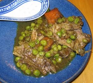 Braised spicy lambs shanks gluten free