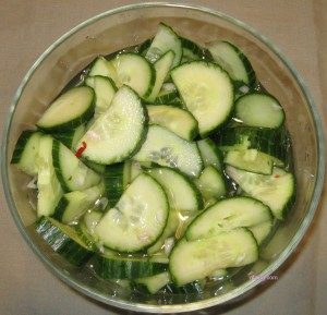 Thai Cucumber Salad gfzing.com birdseyeview