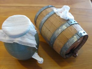 Vinegar Crock and Barrel from GFZINGdotcom